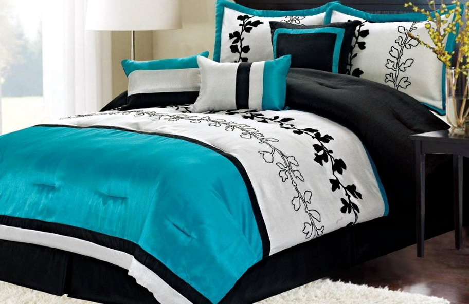 Black And Teal Bedroom Ideas