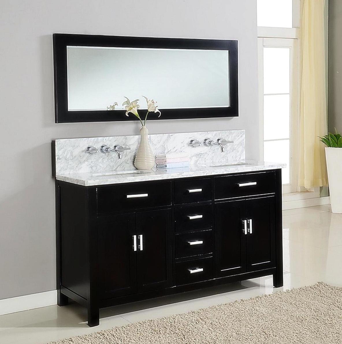 Black Bathroom Vanity Units