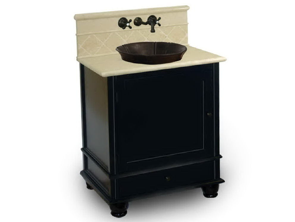 Black Bathroom Vanity With Vessel Sink
