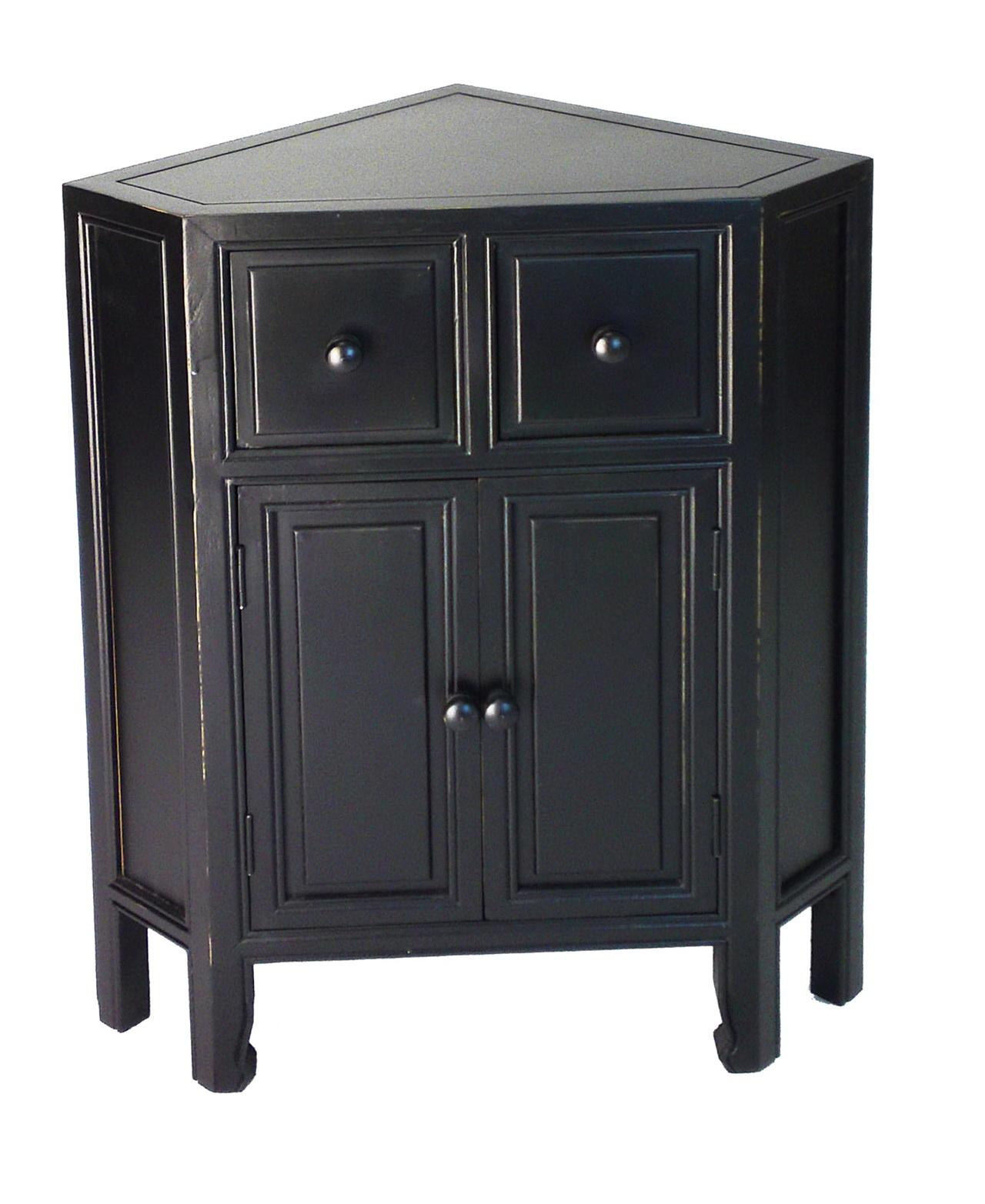 Black Corner Storage Cabinet