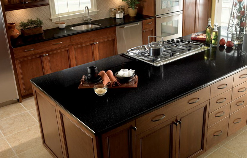 Black Kitchen Counter Tops