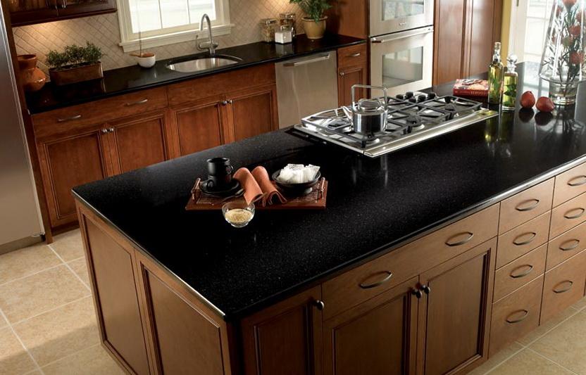 Black Kitchen Counter Tops