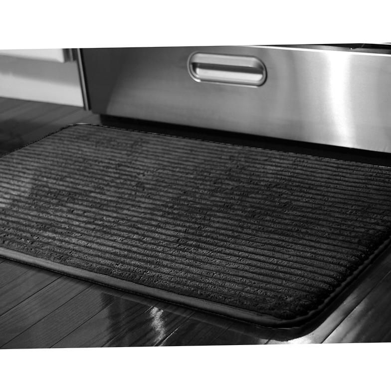 Black Kitchen Floor Mats