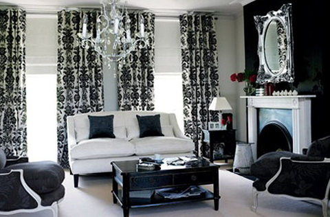 Black Living Room Curtain Ideas