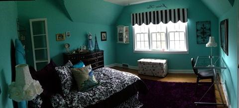 Blue Paris Bedroom Decor