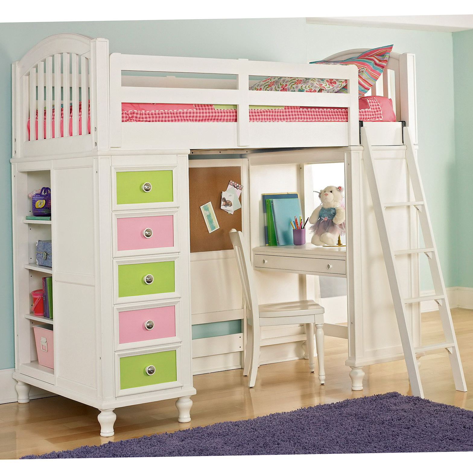 Bunk Bed Desk For Girls