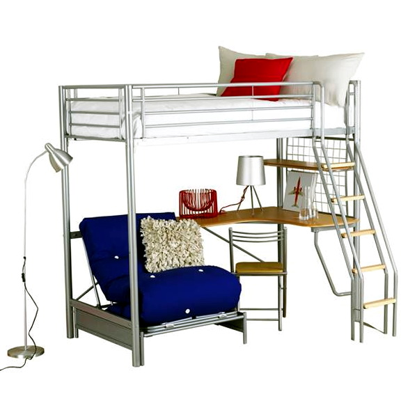 Bunk Bed With Desk And Futon