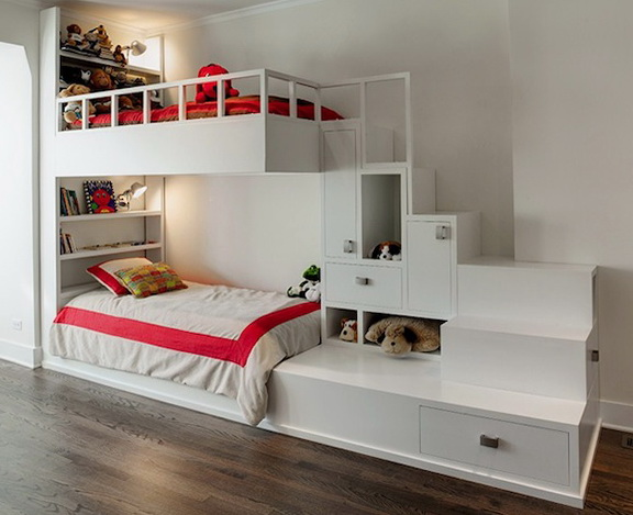 Childrens Bunk Beds With Stairs