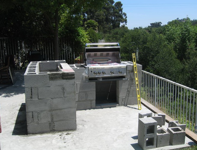Cinder Block Outdoor Kitchen Plans