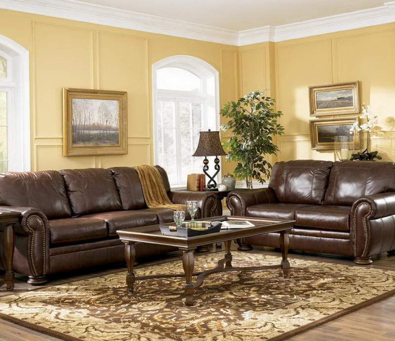 Color Schemes For Living Rooms With Brown Leather Furniture