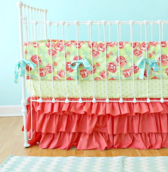 Coral Baby Nursery Bedding