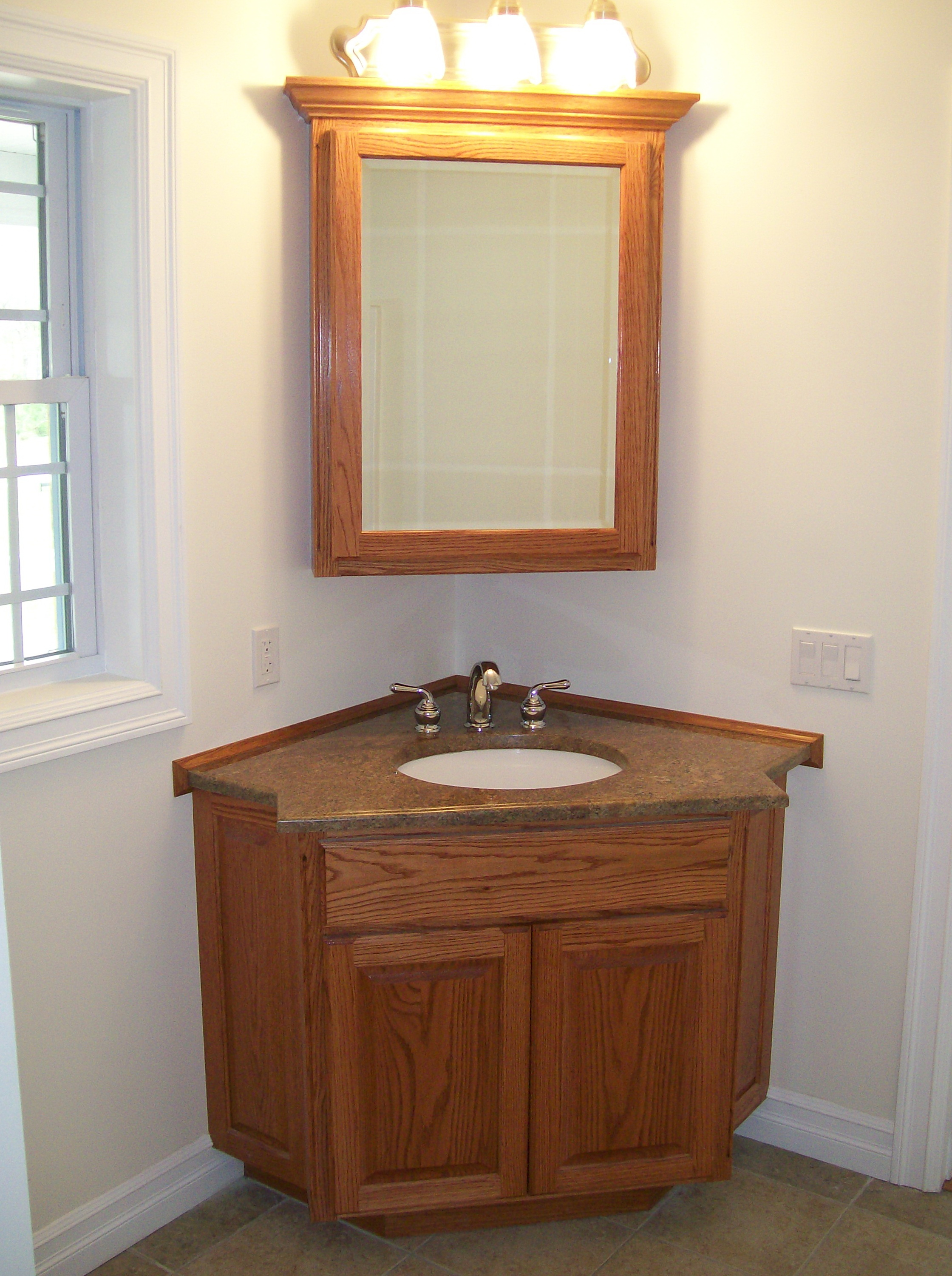 Corner Bathroom Cabinet With Sink