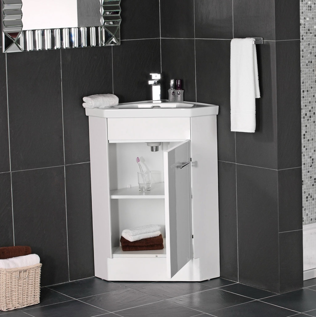 Corner Bathroom Sink Unit