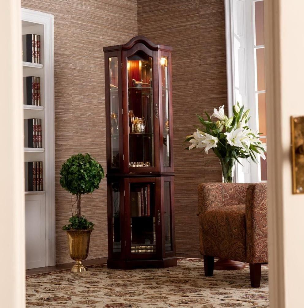 Corner Glass Curio Cabinets