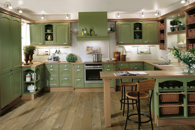 Country Kitchen Ideas Green