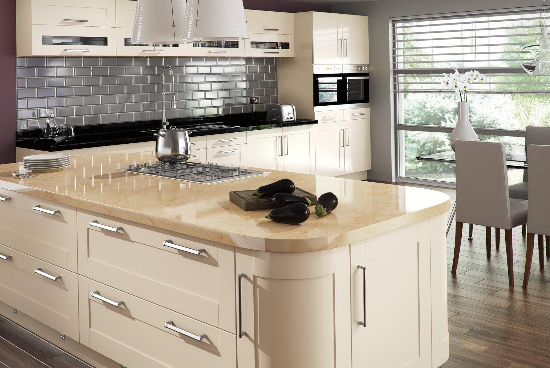Cream Shaker Kitchen Cabinets