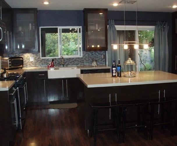 Dark Kitchen Cabinets And Dark Wood Floors