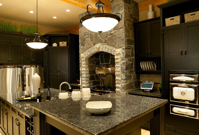 Dark Kitchen Cabinets With Dark Granite