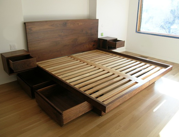Diy Platform Bed With Drawers1