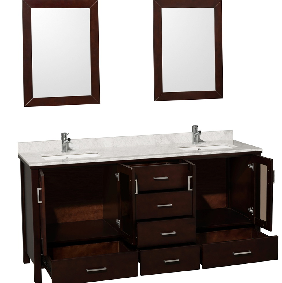 Double Bathroom Vanities With Tops