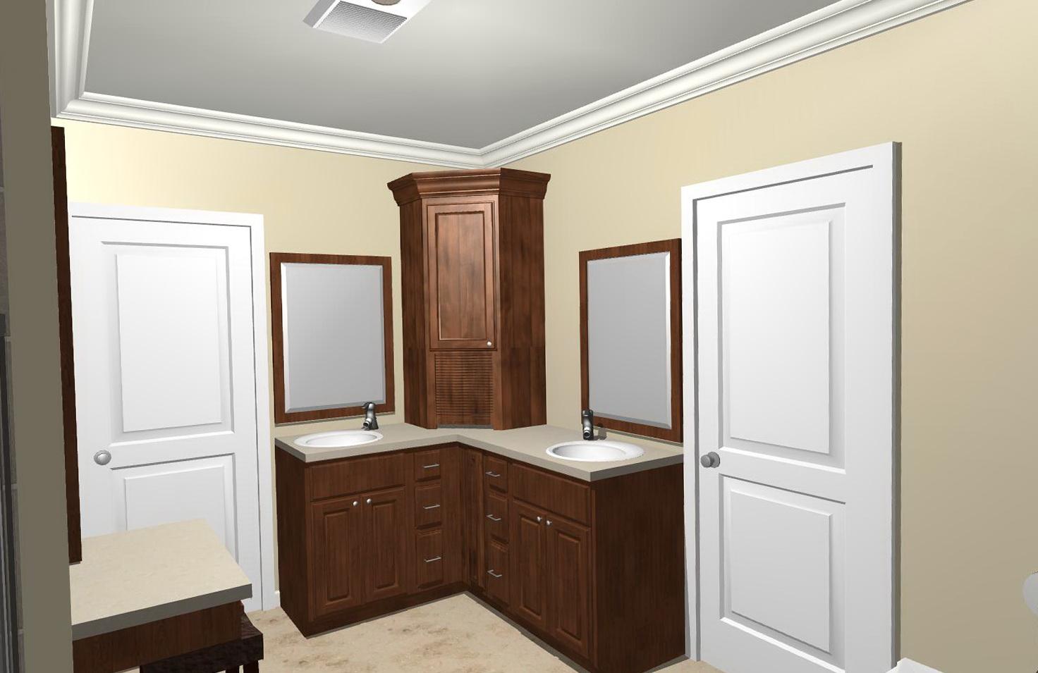 Double Bathroom Vanities With Towers