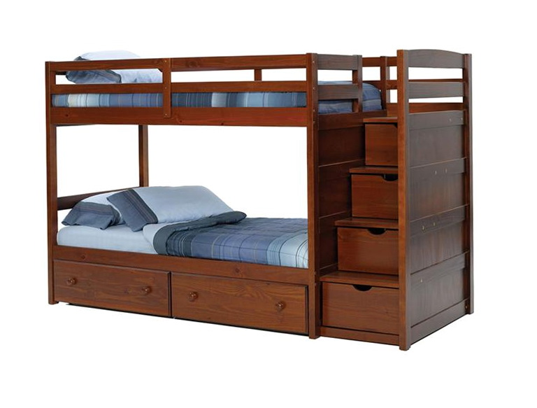 Double Bunk Beds With Stairs