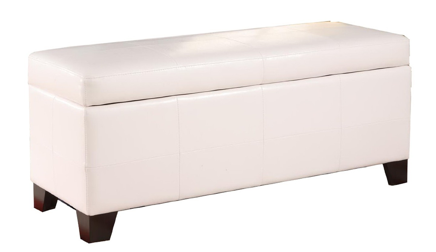 End Of Bed Storage Bench White