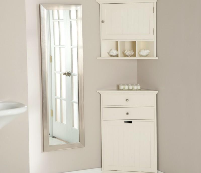 Floor Standing Corner Bathroom Cabinet