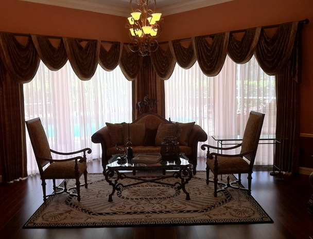Formal Living Room Window Treatments