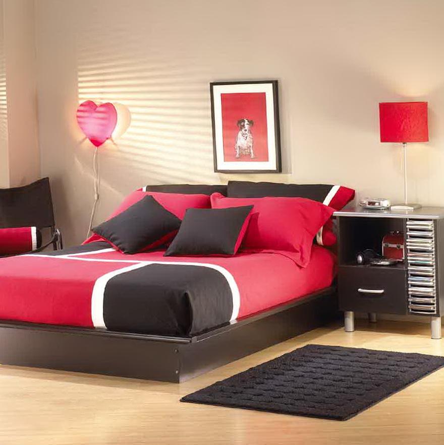 Full Black Platform Bed