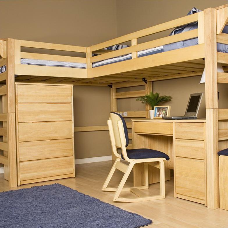 Full Loft Bed With Desk Plans