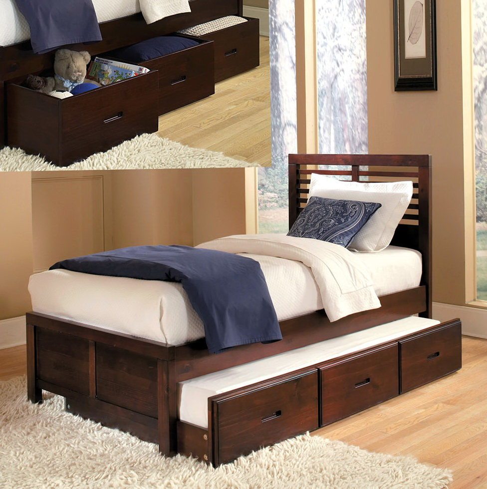 Full Size Bed With Trundle And Drawers