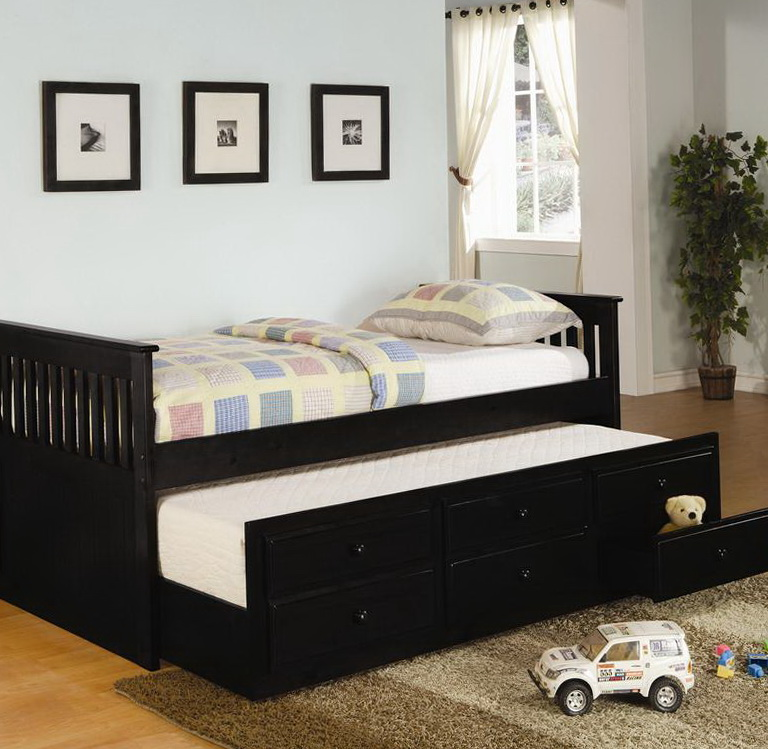 Full Trundle Bed Black