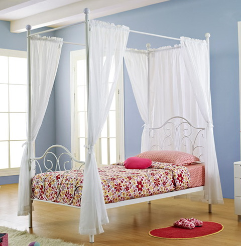 Girls Canopy Bed Curtains