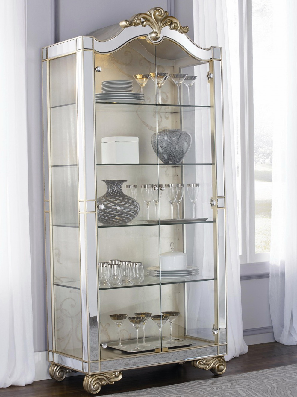 Glass Curio Cabinets Target