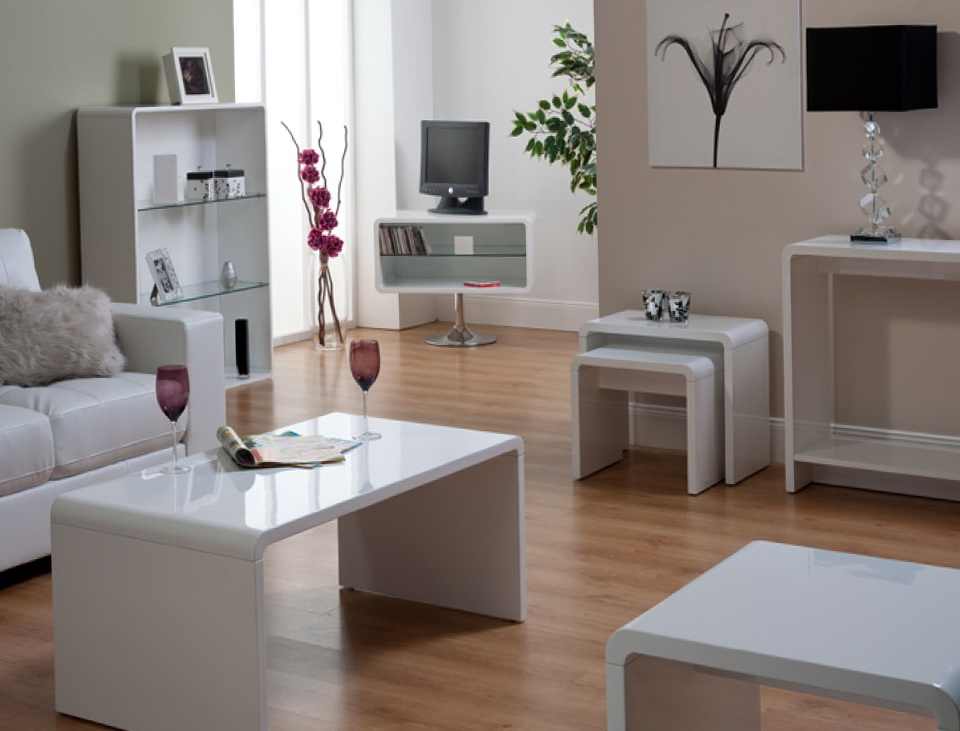 Gloss White Living Room Furniture