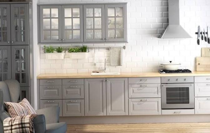 Gray Kitchen Cabinets Ikea