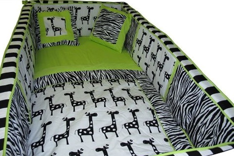 Green Giraffe Baby Bedding