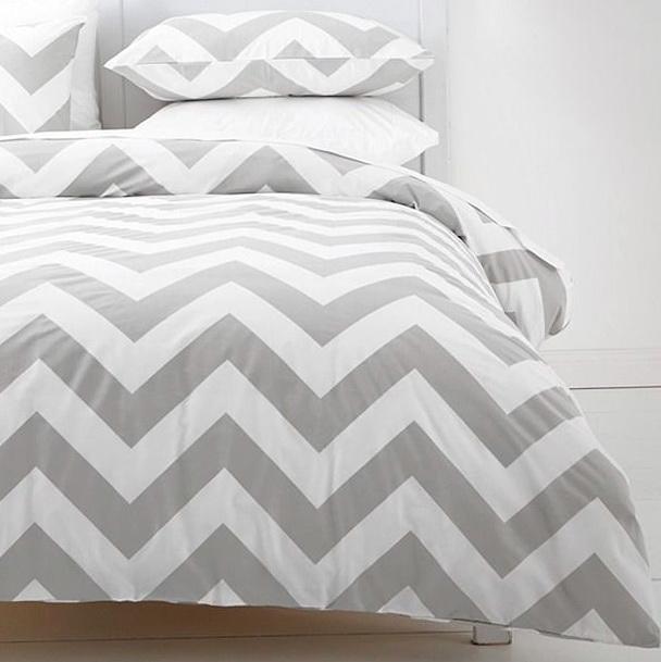 Grey Zig Zag Bedding