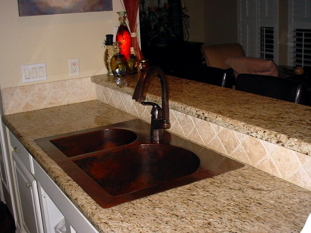 Hammered Copper Kitchen Sinks