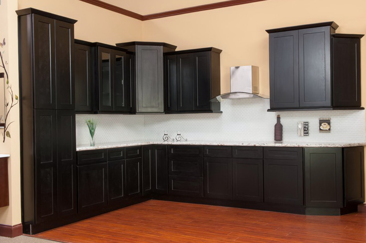 Hampton Bay Cabinets Java