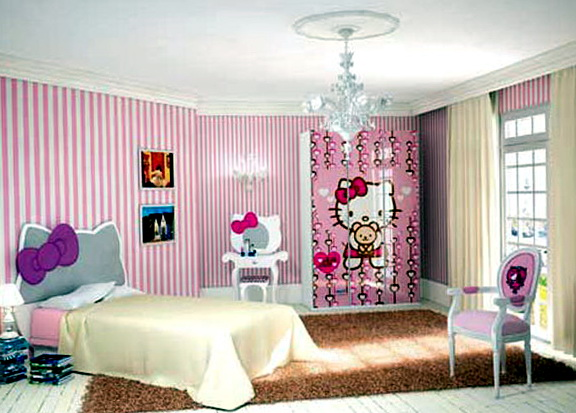 Hello Kitty Bedroom Set Furniture