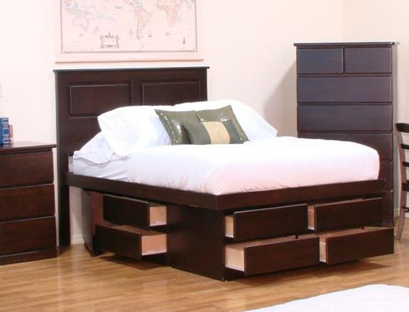 High Platform Beds With Storage