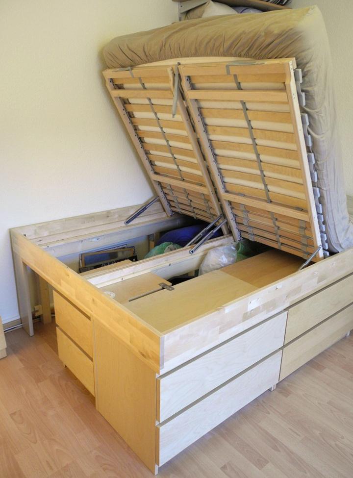 Ikea Storage Bed Hack