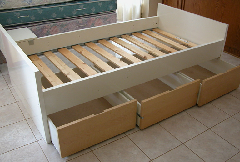 Ikea Twin Bed Three Drawers