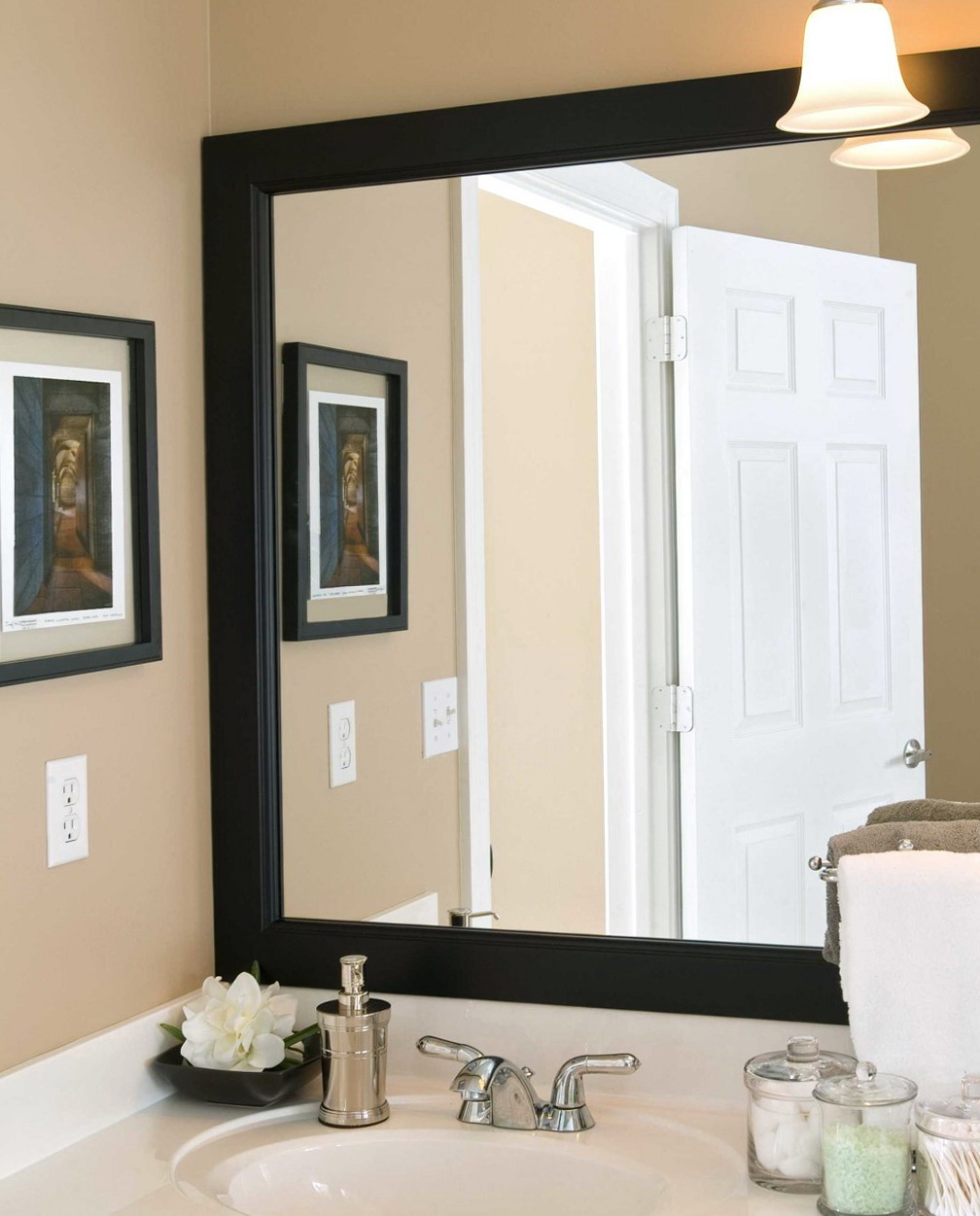 Images Of Framed Bathroom Mirrors