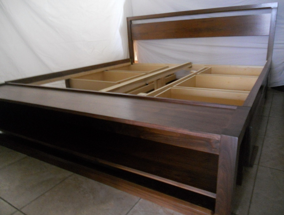King Size Bed Frame With Drawers 2
