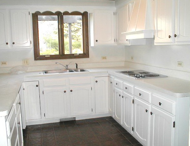 Kitchen Cabinet Refinishing White