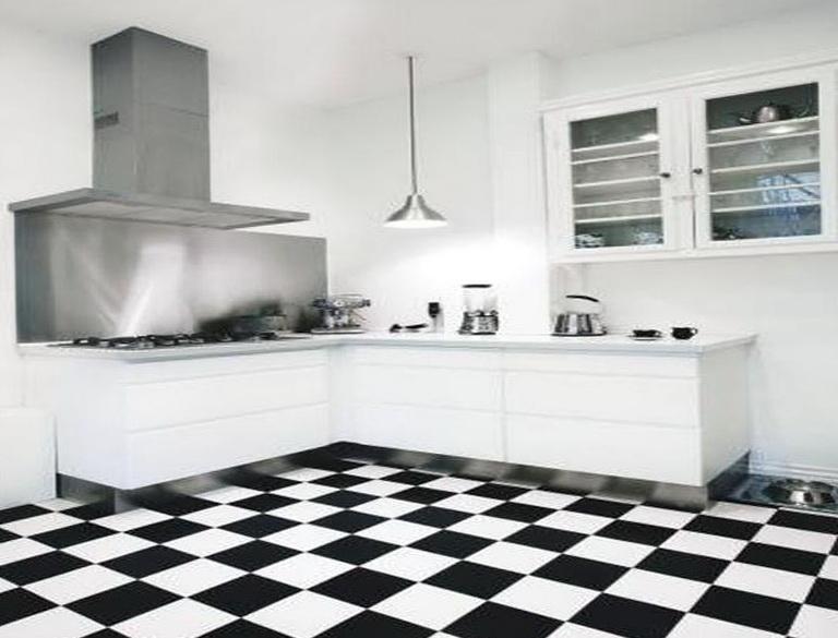 Kitchen Floor Tiles Black And White