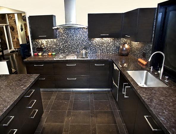 Kitchen Floor Tiles With Dark Cabinets